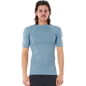 Rip Curl Down Patrol SS UV Shirt Men mid blue marle